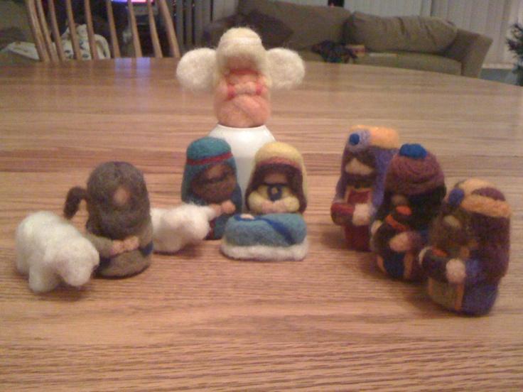 Needle Felted Nativity Set