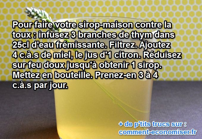 Comment Faire son Sirop Maison Contre la Toux.