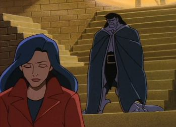 We Love Gargoyles and You Should Too | Retro | Oh My Disney  Goliath looking at Elisa.