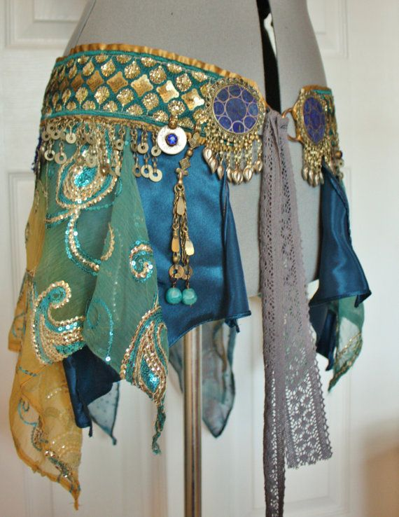 RESERVED FOR NYX Belly Dance Belt Atlantis Size by theverdantmuse