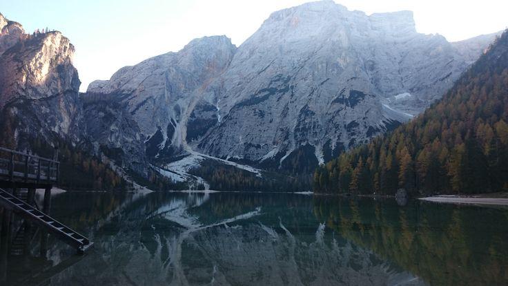 Maybe the most beautiful lake in the Dolomites #PragserWildsee #LakeofBraies #LagodiBraies   Foto: Elisabeth Moser