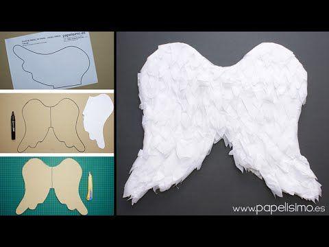 Alas de ángel de papel para niño | Manualidades                                                                                                                                                                                 Más