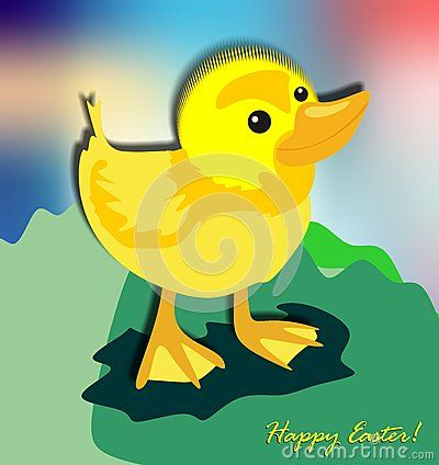 Funny Easter And Small Yellow Chick - Download From Over 40 Million High Quality Stock Photos, Images, Vectors. Sign up for FREE today. Image: 65635032