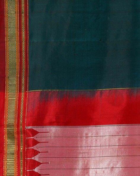 Buy Green Shri Chamundeshwari Handwoven Chikki Paras Ilkal Pure Silk Saree