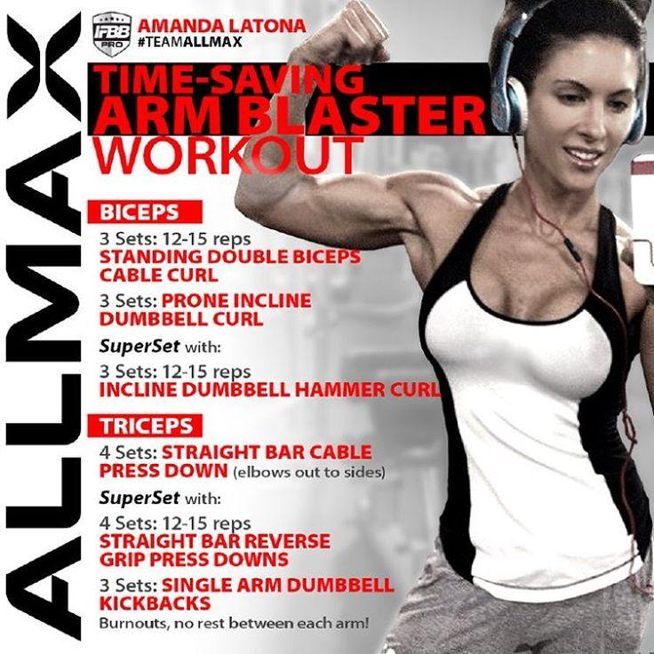"""IFBB Bikini Pro Amanda Latona's time saving arm workouts"