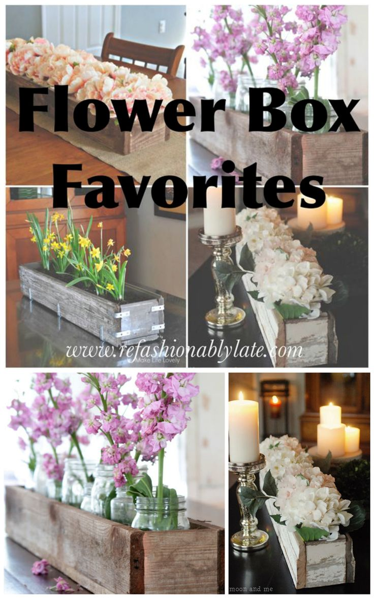 A collection of my favorite DIY flower boxes! www.refashionablylate.com