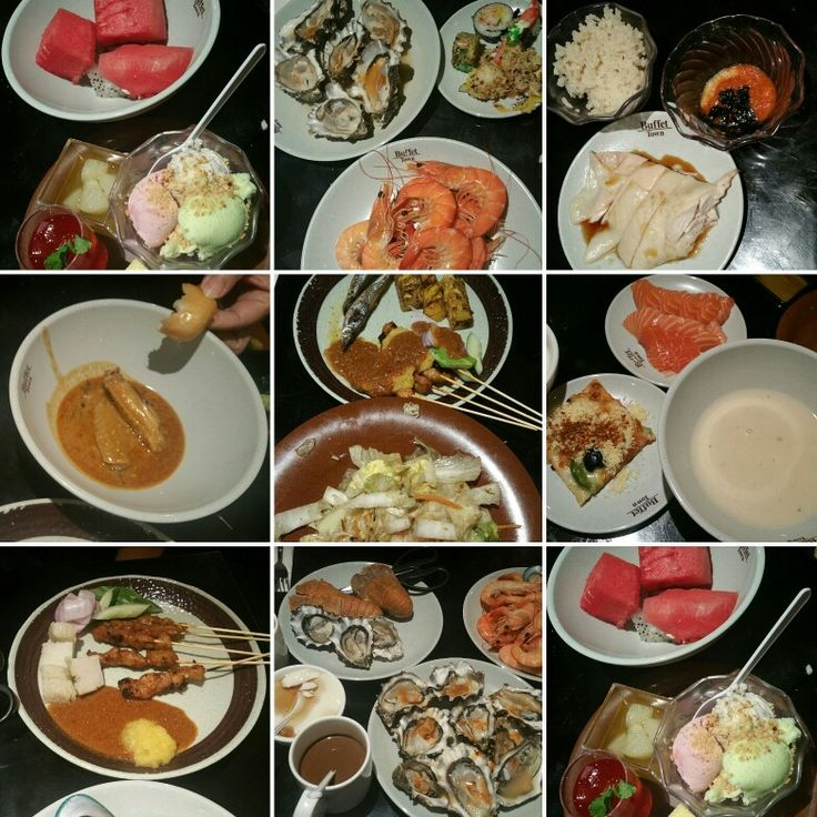 Having a great great buffet with my Aunt at Buffet Town International Buffet Restaurant Full up to the MAX.....Enjoy sia!!!  吃得好开心! 但是, 是饱到。。。
