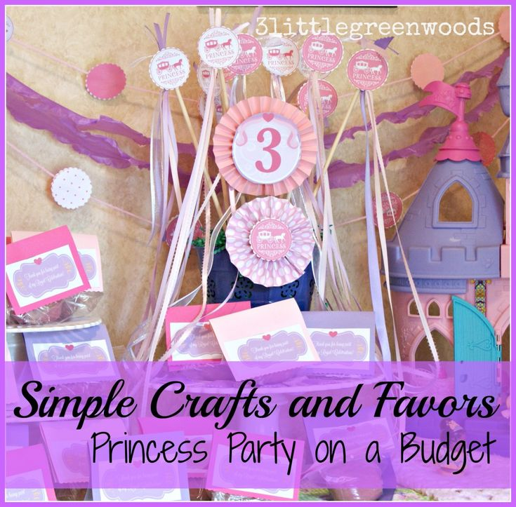 Simple Crown Craft and Fun Favors! Princess Party on a Budget
