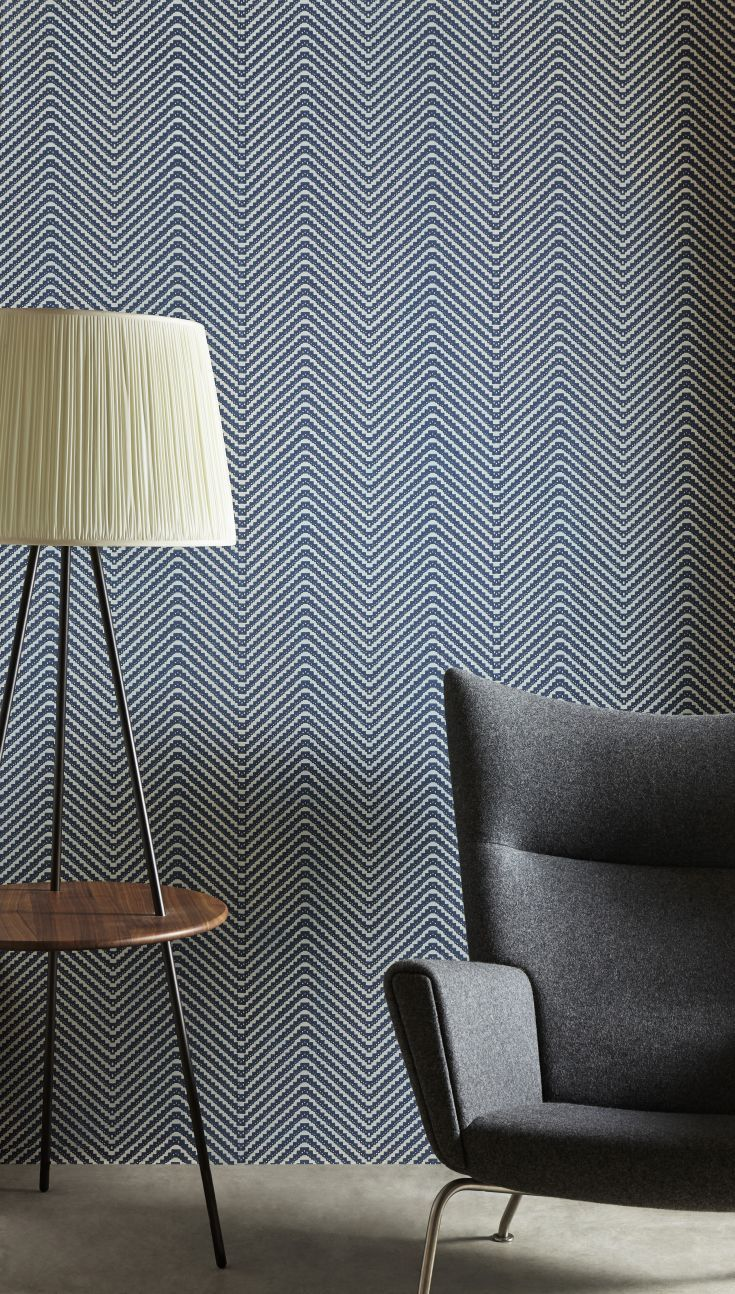 Stunning chevron wallpaper design by Barneby Gates.