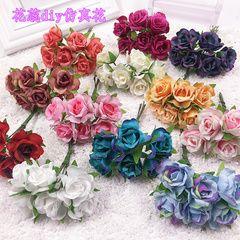 Моделирование небольшой букет из роз Хуан ткани DIY ручной головной убор цветок аксессуары венок невесты блюдо волос карамельный материал