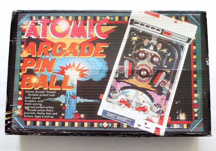Vintage 1979 Atomic Arcade Portable Pinball Machine Electronic Toy from TOMY in Original Box | #arcade #pinball #tomy #vintagetoys #toys