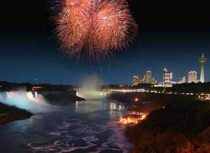 Canada Day Fireworks Pictures of Niagara Falls 2016