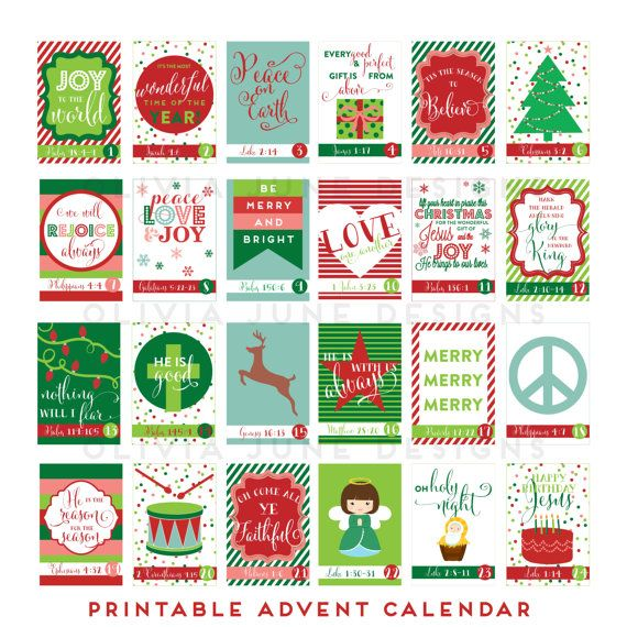 Advent Calendar Ideas Bible Verses : Printable diy advent calendar with scripture by