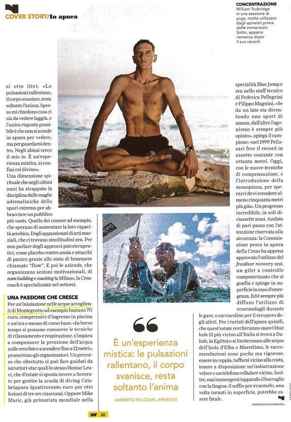 Y-40 The Deep Joy su SportWeek de La Gazzetta dello Sport