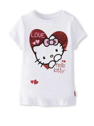 69% OFF Hello Kitty Girl's Graphic Tee (Bright White)