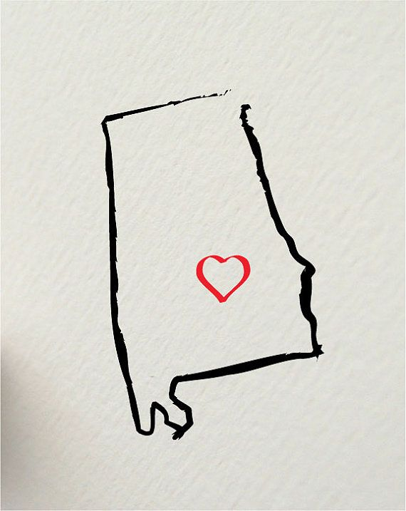 the state of ALABAMA Montgomery USA 8 x 10 digital print design - painted brush strokes