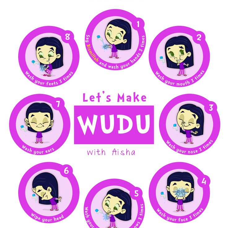 Let's Make WUDU poster from the Little Muslims series. Pick your favorite Little Muslims character! Tape it on your home or masjid restroom mirror so your little Muslims can love to make wudu with …