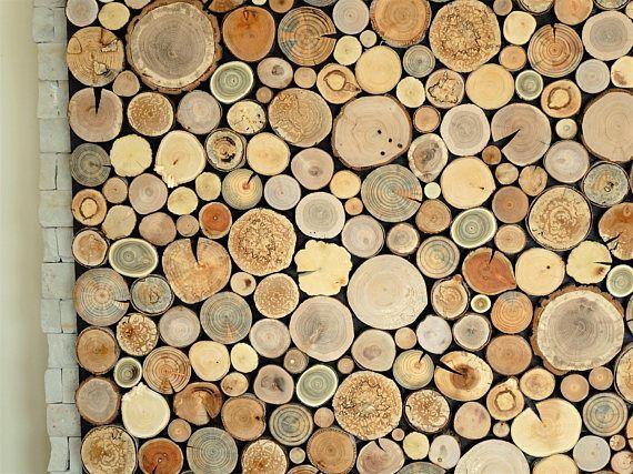 Art Mural D Environnement Tours Arbre Panneau Mural Fait De Rondelles De Bois De Differentes Reclaimed Wood Wall Art Reclaimed Wood Wall Rustic Wood Wall Art