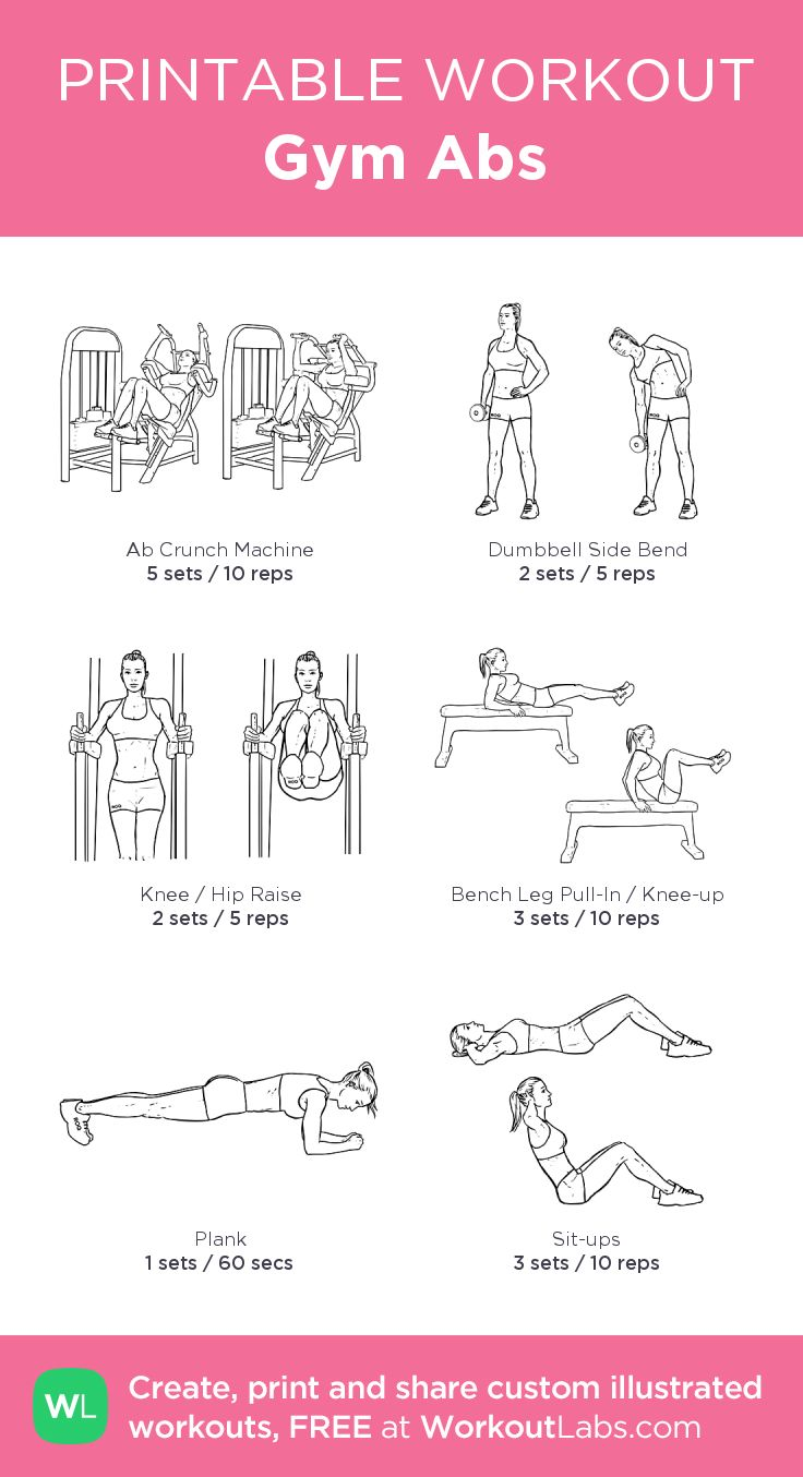 Gym Abs: my custom printable workout by @WorkoutLabs #workoutlabs #customworkout