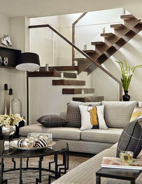 #Stairs creative ideas for your #renovation project - modern staircase -South Shore Decorating Blog http://www.myrenovationstore.com