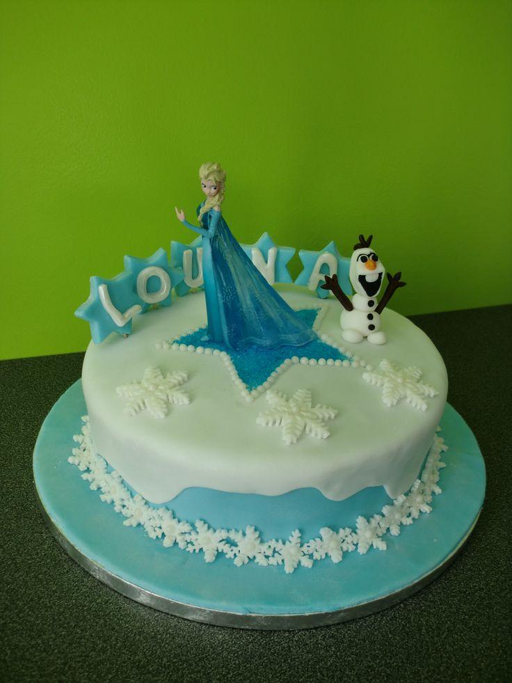 Gâteau d'anniversaire Reine des neiges