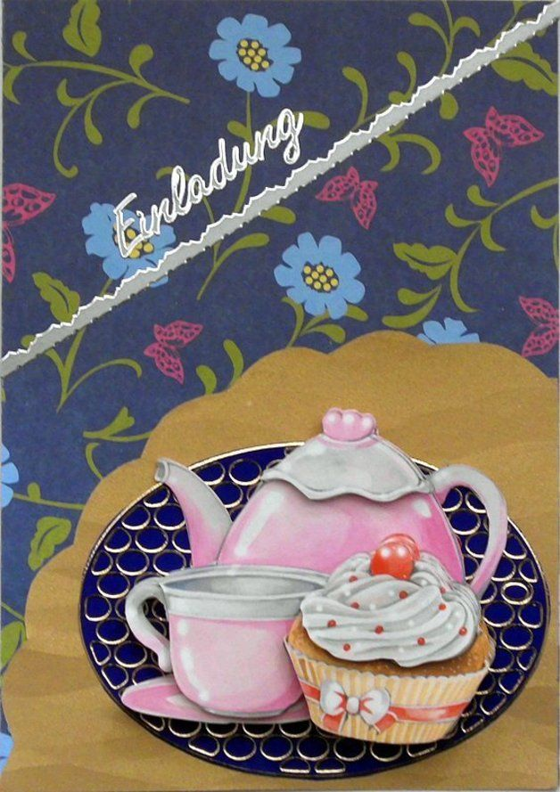 Einladung zu kaffee und kuchen 3 karten pinterest - Kuchen wanddekoration ...