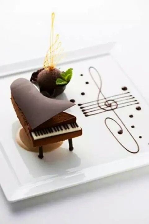 Piano de Chocolate - Chocolate Dessert Piano at the Palace Hotel Tokyo, Japan : fancyedibles