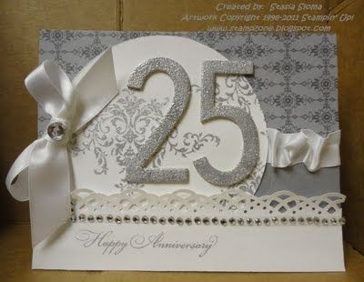 25th anniversary card - Stampin' & Scrappin' with Stasia: Pals Paper Arts Here Comes The Bride