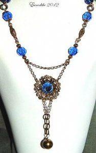 Vintage Necklace with Swarovski Safir