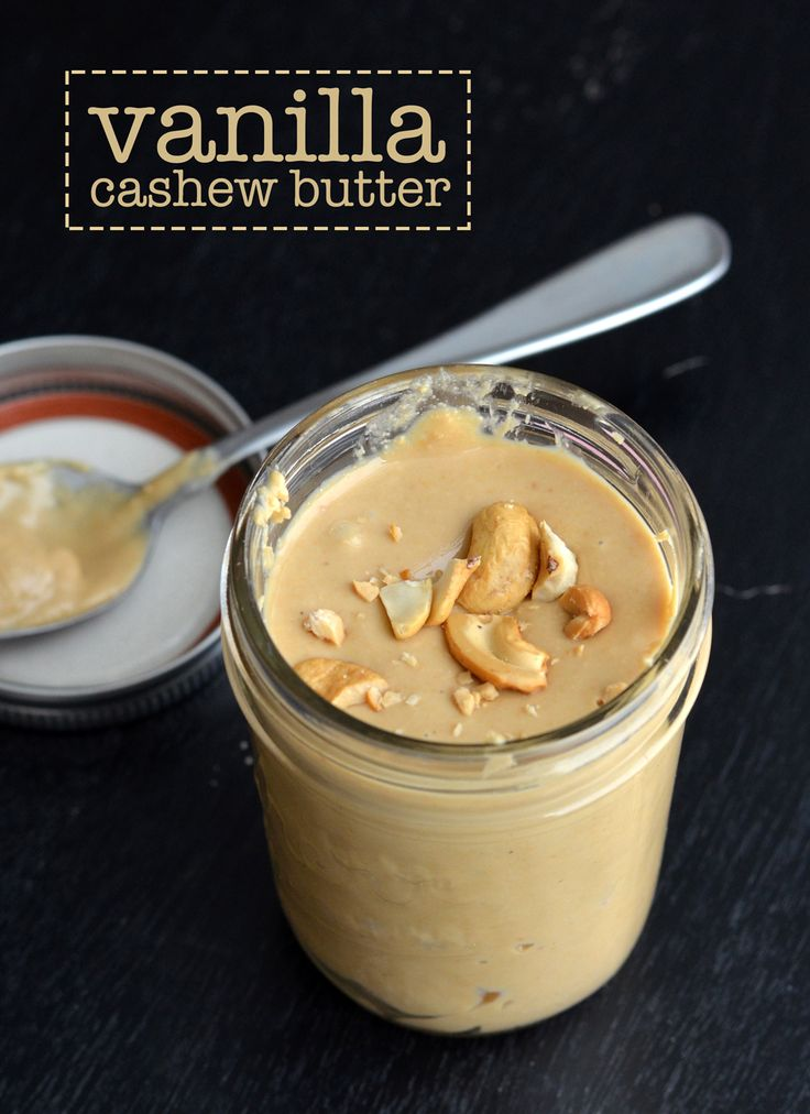 vanilla cashew butter