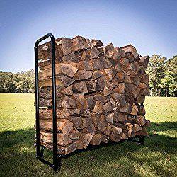 Titan Outdoors Heavy Duty Firewood Log Rack Holder (4 Foot)