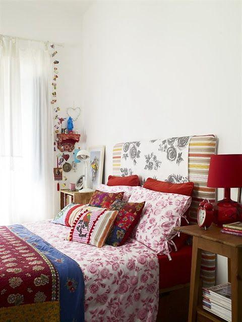 bohem stili yatak odası dekorasyonu