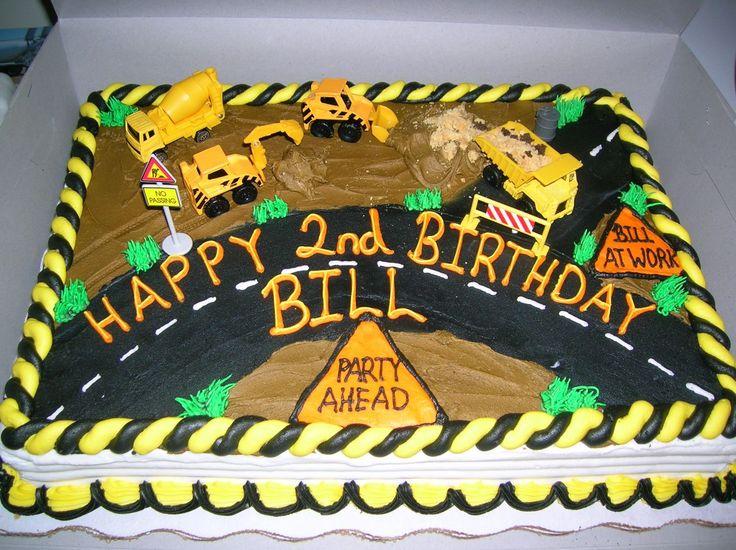 construction cake - kids birthday cake construction theme.