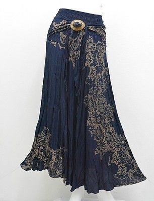 SKIRT AB11 HIPPY BOHO MAXI GYPSY CASUAL COCO BUCKLE COTTON WOMAN | Clothing, Shoes & Accessories, Women's Clothing, Skirts | eBay!