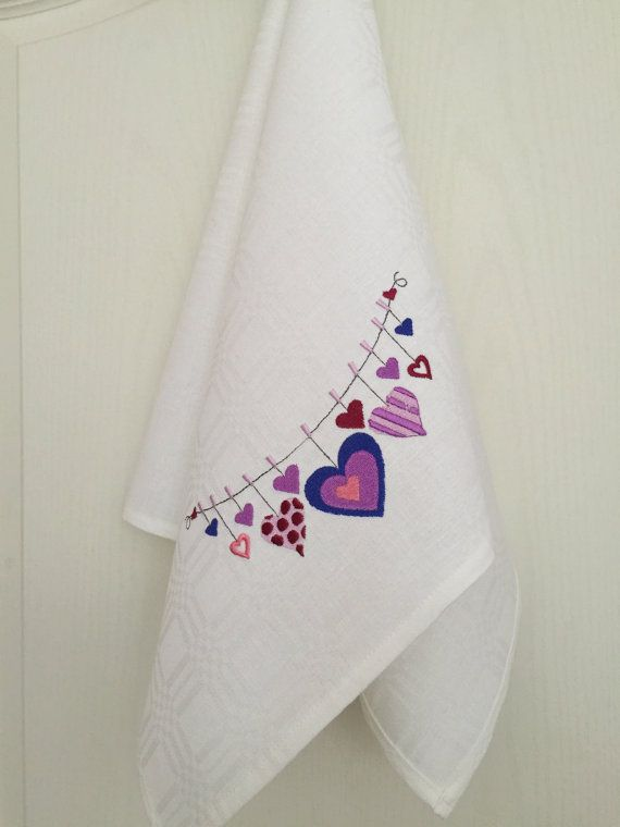 Dish Towel Tea Towel Embroidery Kitchen Towel от Rokasdarbi