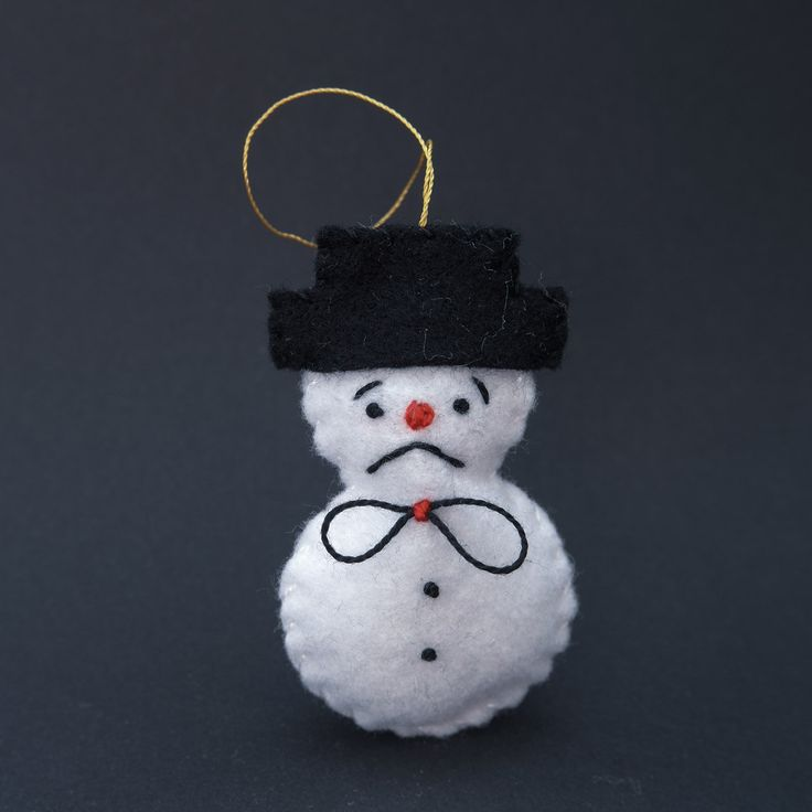 Disappointed snowman - snowmen ornaments, snowman ornament, holiday ornaments, christmas ornament, holiday decor, holiday snowman - by HalloweenOrChristmas on Etsy