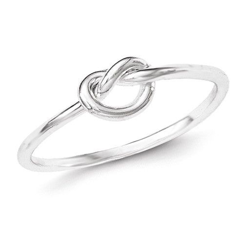 Sterling Silver Small Polished Love Knot Ring , - Sparkle & Jade - 1