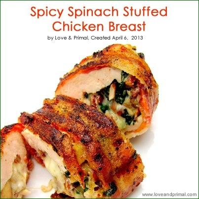 Spicy Spinach Stuffed Chicken Breast