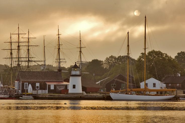 One of my favorite places to shoot nautical vistas and details – Mystic Seaport Museum in Mysti...