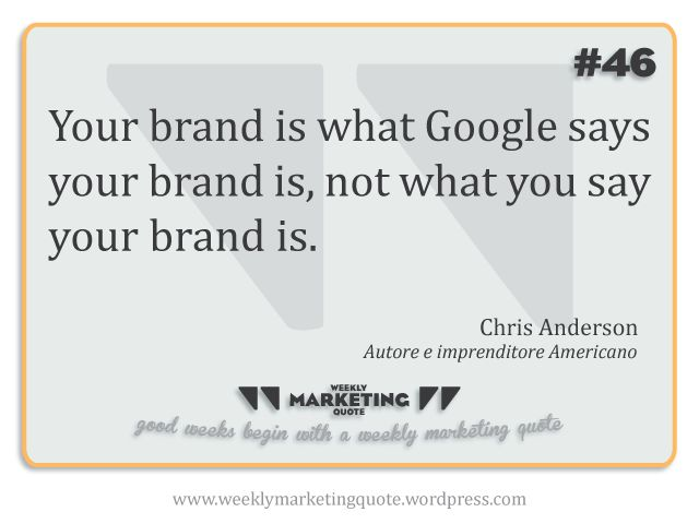 Weekly Quote #46: Chris Anderson - Weekly Marketing Quote