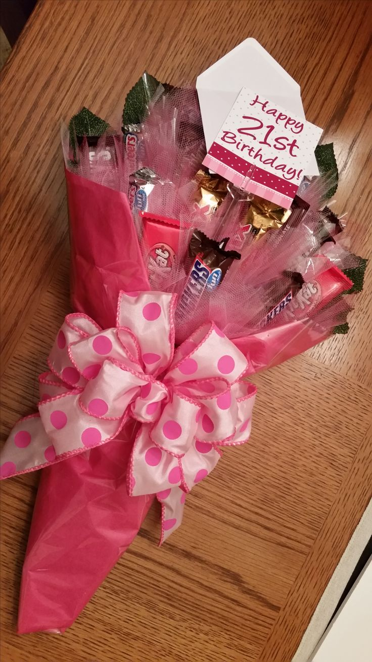 Candy bouquet - but with blue / red for boys hip hop dance recital