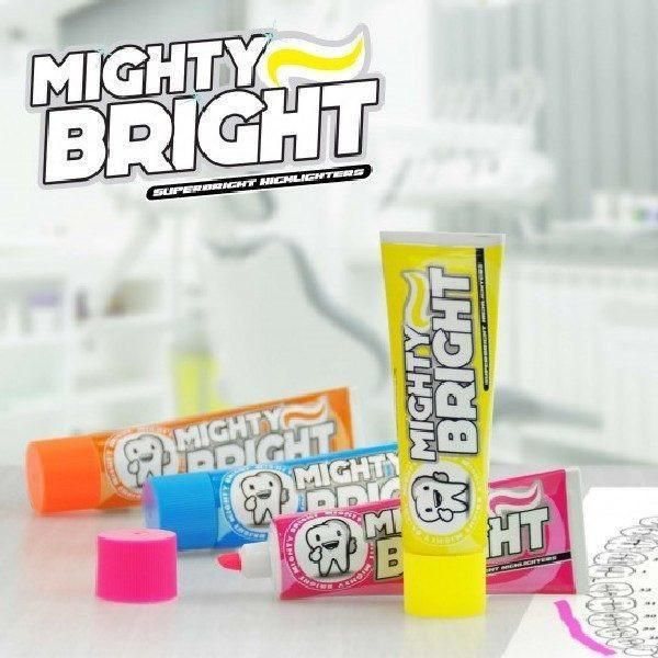 Mighty Bright Toophpaste Highlighter Pens 4 Pack  #gift #cool #cheap #presents #shopping #birthday #mzube #quirky #gifts #sale   https://www.mzube.co.uk
