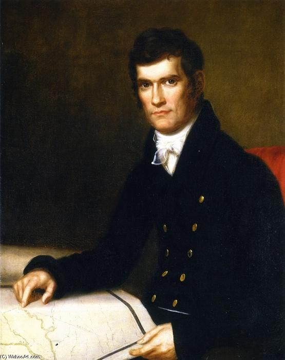 'John C. Calhoun, Secretary of War', Oil On Canvas by Charles Bird King (1785-1862, United States)