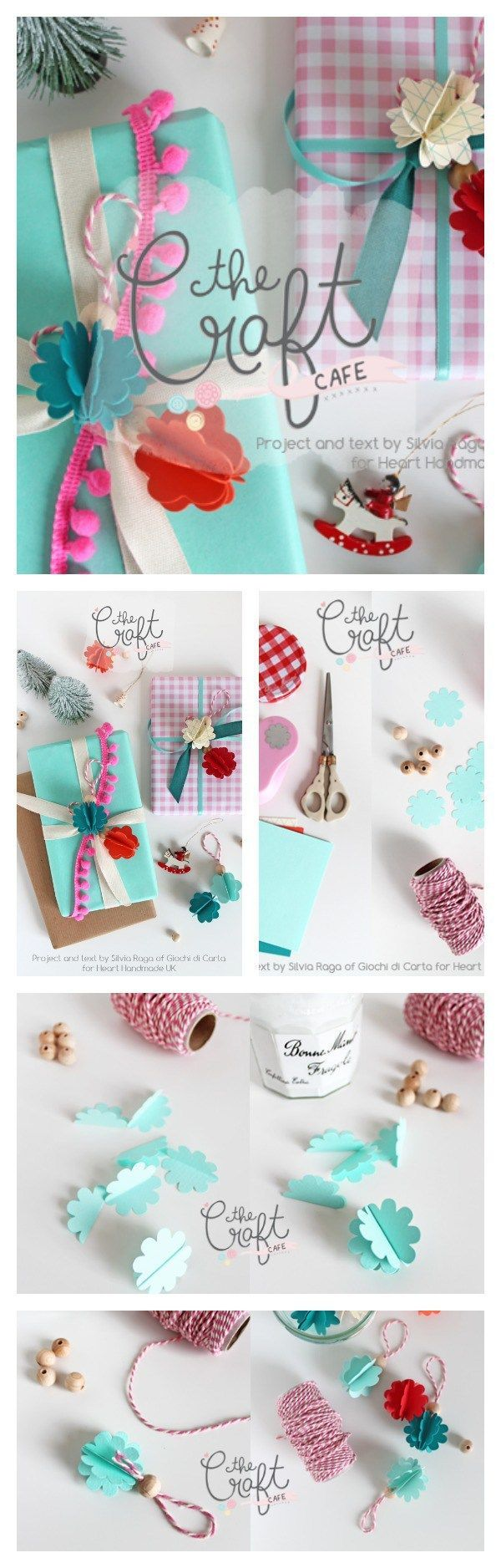 Perfect Gift Wrapped Gifts! Learn how to wrap perfect gifts for Christmas with Silvia Raga of Giochi Di Carta for Heart Handmade UK. Use beads, little decorations and lots of ribbons and trims to create pretty little packages.