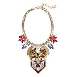 Lulu Frost for J.Crew tangerine resin petal necklace