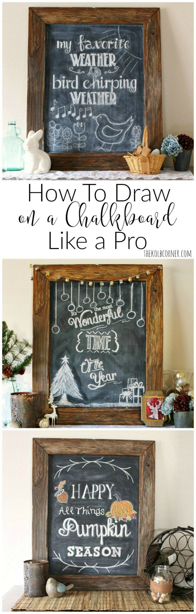 A simple step by step tutorial that shows you how to draw on a chalkboard  like