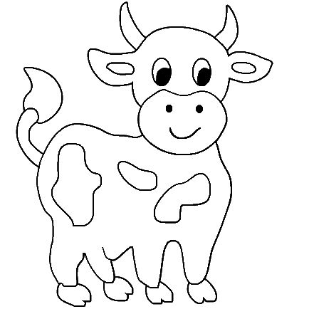 Cow Printable Coloring Pages Cute Animal Books For Kids Drawing