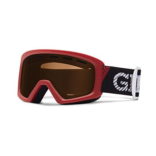 Giro Rev Red Pusher-Amber Rose Youth Ski Goggles. Big style for mini-shreds who want to go bigââ'¬â€the all-new Rev features a clean, grown-up design with tons of style built to fit little ones ages 6 to 10 years old. Plush double layer face foam is super soft against the skin for tons of comfort all day, all season long.