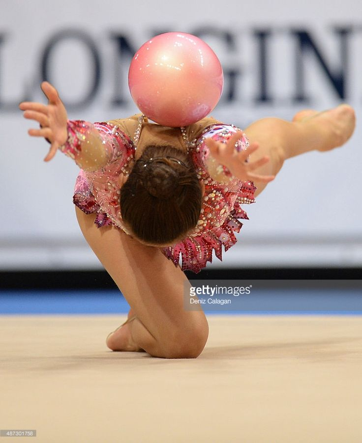 Jae Yeon Son of South Korea competes during the 34th Rhythmic Gymnastics World Championships on September 8, 2015 in Stuttgart, Germany.