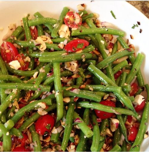 Candace Cameron Bure's Green Bean Salad                                                                                                                                                                                 More
